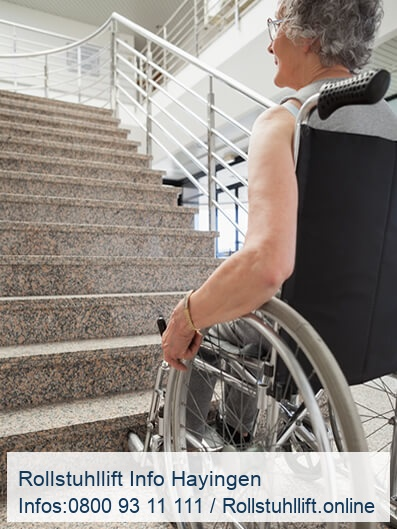 Rollstuhllift Beratung Hayingen