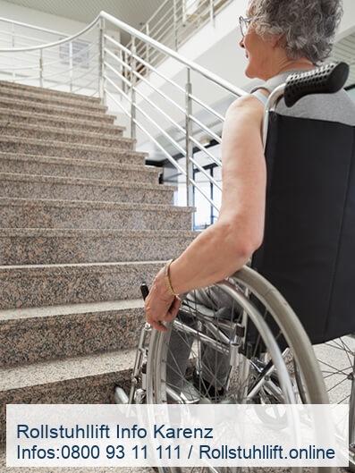 Rollstuhllift Beratung Karenz